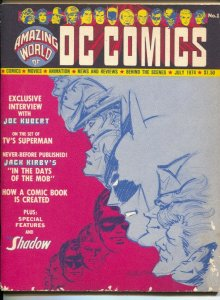 Amazing World of DC Comics #1 1974-Joe Kubert George Reeves-Jack Kirby-Shadow-VG
