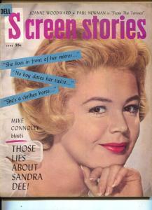 Screen Stories-Sandra Dee-Van Heflin-Judy Holliday-June-1960
