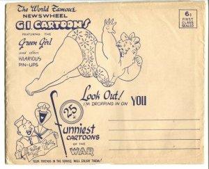 Newswheel G.I. Cartoons 1944-w/envelope-calendar-pin-up girl art-cheesecake-VG