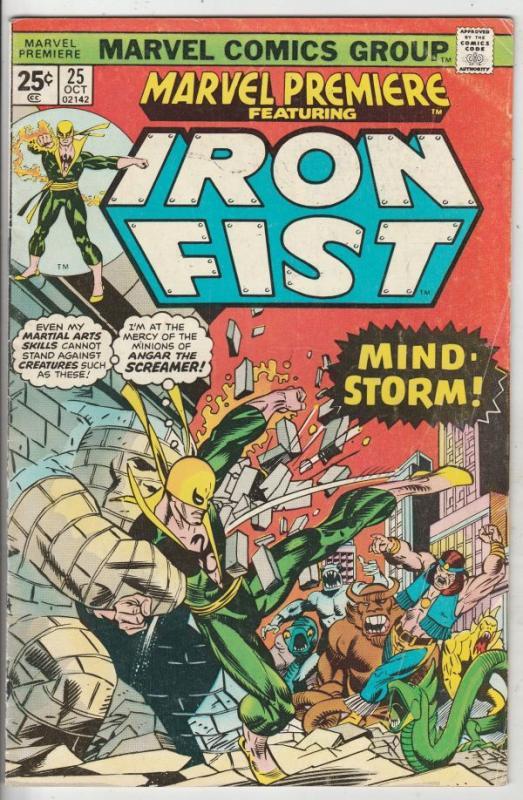 Marvel Premier #25 (Oct-75) VG/FN Mid-Grade Iron Fist