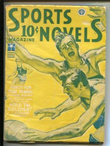 Sports Novels 2/1943-Popular-basketball-hockey-boxing-baseball football-WWII ...