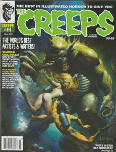 HOT OFF THE PRESS -THE CREEPS #11, A CREEPY, EERIE COMIC HORROR MAGAZINE.