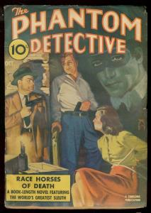 PHANTOM DETECTIVE OCT 1941 RACE HORSES - BOUND & GAGGED FN