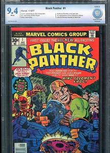 BLACK PANTHER  # 1  CBCS  9.4  WHITE PAGES (1977)  BEAUTIFUL SUPER HIGH GRADE