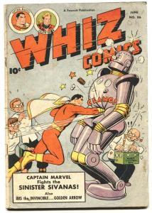 Whiz Comics #86 1947- ROBOT COVER- Ibis- Golden Arrow- Captain Marvel-VG
