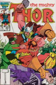 Thor #367 VF/NM; Marvel | save on shipping - details inside