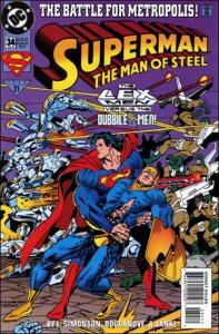 DC SUPERMAN: THE MAN OF STEEL #34 VF