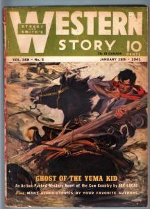 WILD WEST WEEKLY 1/18/1941-WESTERN PULP-YUMA KID VG