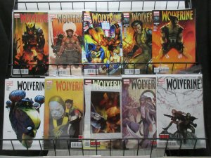 Wolverine (Marvel 2012) #300-315 Lot of 10Diff Logan's (not) Solo Adventures