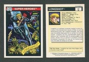 1990 Marvel Comics Card  #45 ( Longshot)  NM