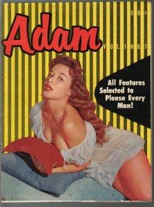 Adam #7 1957-Knights-showgirls-lingerie-cheesecake-pulp fiction-VG
