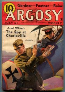 Argosy Pulp July 21 1934- Spy at Charleville- VG-