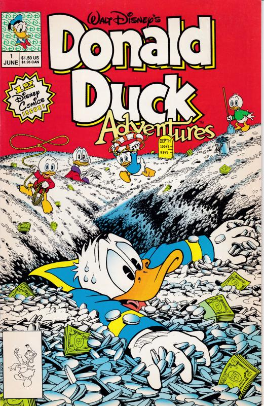 Walt Disney's Donald Duck Adventures .June 1990 No.1 F/VF