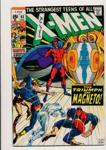Marvel X-Men #63 Very Good The Triumph of Magneto 1969 (830J)