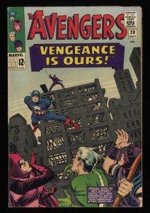 Avengers #20 FN/VF 7.0 Marvel Comics Thor Captain America