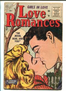 LOVE ROMANCES #57 1956-ATLAS-SPICY GOOD GIRL ART-LIP LOCK-vg minus