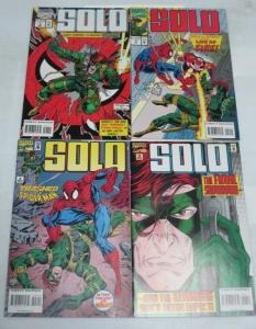SOLO (1994) 1-4 GUEST STARRING SPIDERMAN!!!!!