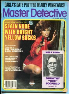 Master Detective 9/1987- spicy gun moll-violent crime pulp thrills-slain nude-VG