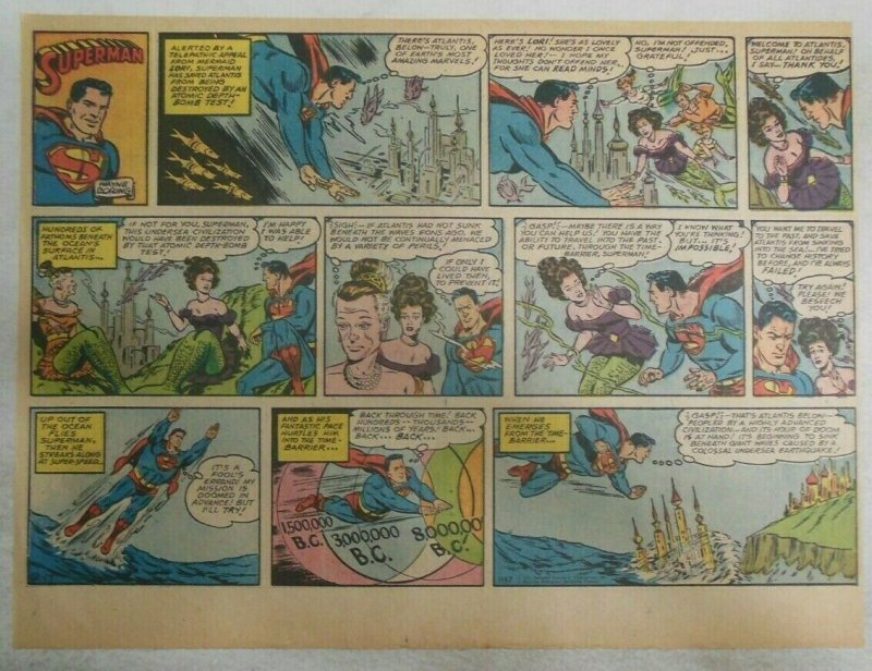 Superman Sunday Page #1157 by Wayne Boring from 12/171961 Size ~11 x 15 inches