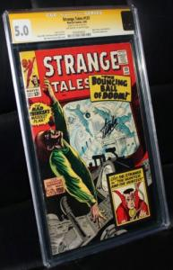 Strange Tales #131 CGC 5.0, Signed by Stan Lee, Dr. Strange Hunter & The Hunted