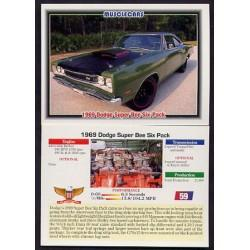 1992 Collect-A-Card Musclecars 1969 DODGE SUPER BEE SIX-PACK #59