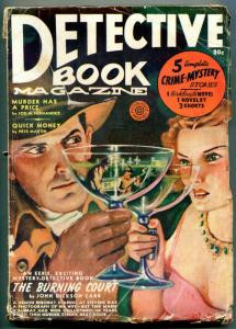 Detective Book Magazine Pulp Spring 1940- Martini cover- Burning Court VG