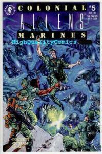 ALIENS COLONIAL MARINES #5, NM+, Horror, Kelley Puckett, Sci-Fi, 1993