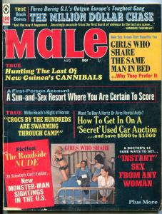 Male Magazine August 1970- Cannibals- Roadside Nude- Monster Man