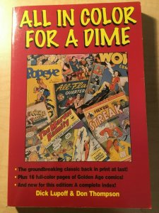 All in Color For A Dime by Dick Lupoff & Don Thompson Comic Book History MFT2