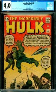 Incredible Hulk #3  CGC 4.0