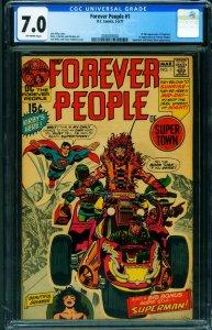 Forever People #1 - CGC 7.0 -Jack Kirby- 1st full Darkseid- 2030202002
