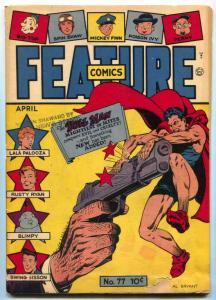 Feature Comics #77 1944- DOLL MAN- 1st Midge VG-