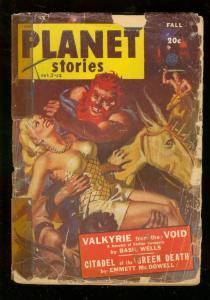 PLANET STORIES PULP-FALL '48-FICTION HOUSE-RAY BRADBURY FR