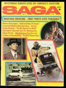 SAGA FEB 1973-CHARLES BRONSON-MARTIAN CREATURE? WTC FN
