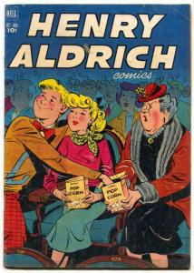 Henry Aldrich #14 1952- popcorn movie theater gag cover