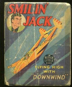 SMILIN' JACK-BIG LITTLE BOOK-#1412-1942-FLYING HIGH WITH DOWNWIND-MOSLEY-good-