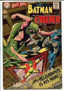 BRAVE AND THE BOLD #80 1968- BATMAN AND CREEPER-ADAMS FN