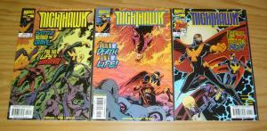 Nighthawk #1-3 VF/NM complete series - defenders spinoff set - jim krueger 2 lot