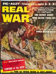 Real War Magazine #3 February 1958- Buna Blood Bath- Leopard of the Deep