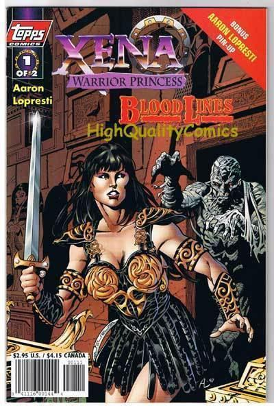 XENA WARRIOR PRINCESS Blood #1, NM+, Lucy Lawless, 1998