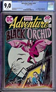 Adventure Comics #428 (DC, 1973) CGC 9.0 KEY 1st Black Orchid