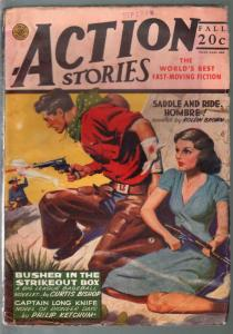 Action Stories-Fall Vol. 17 #9 1944-Good Girl Art cover-1st Capt Long Knife-hero