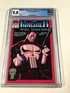 Punisher War Journal 34 Cgc 9.8 White Pages Marvel