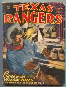 Texas Rangers Pulp November 1947- Guns of Yellow Hills