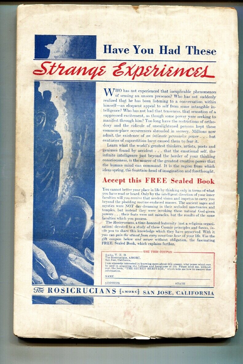 Weird Tales Aug 1938- Margaret Brundage wolf girl cover-Pulp