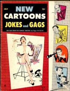 New Cartoons, Jokes and Gags Vol 12 #3 1956-Bob Hope-Groucho-Red Skelton-VG