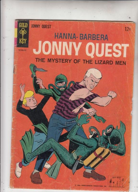 Jonny Quest #1 (Dec-64) VG Affordable-Grade Jonny Quest, Haji, Race, Bandit,