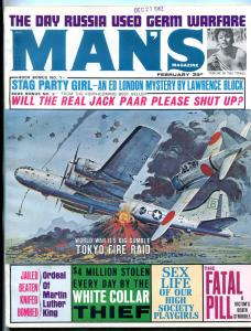 Man's Magazine February 1963-DR. MARTIN LUTHER KING/JACK PARR VG/FN