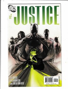 JUSTICE #2  VF/FN  ALEX ROSS ARTWORK.   DC COMICS Save on shipping