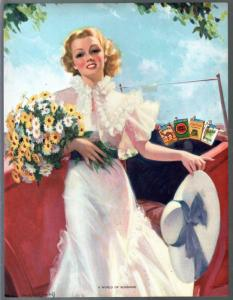 World Of Sunshine-Bradshaw Crandell-Pin-Up Girl Print 1930's-ad variant-VF